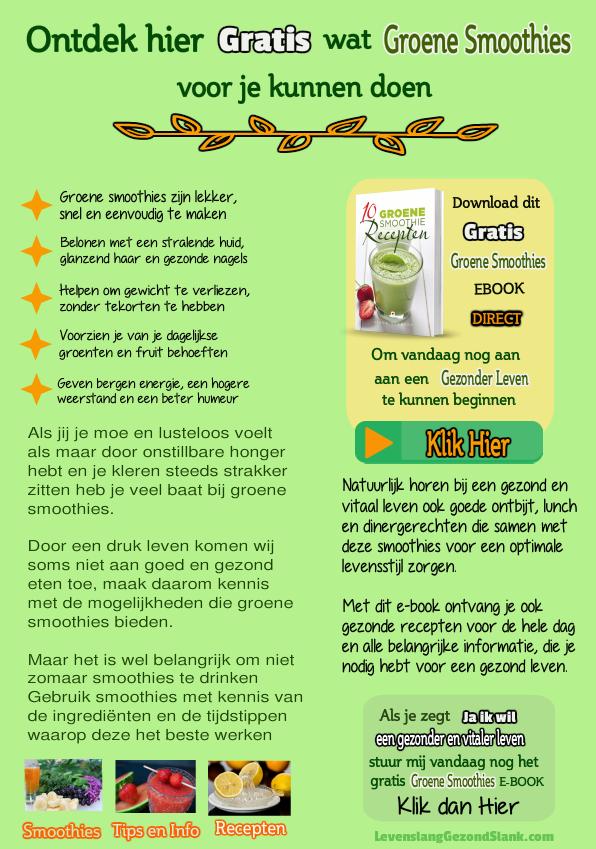 gratis groene smoothie recepten