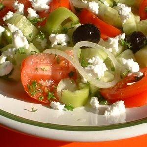 caloriearm eten met griekse boerensalade
