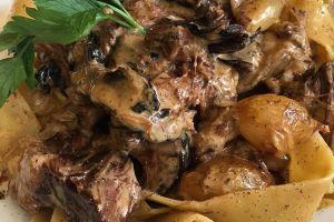 Caloriearm diner - Boef Stroganoff met pasta