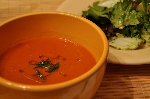 caloriearme tomatencreesoep