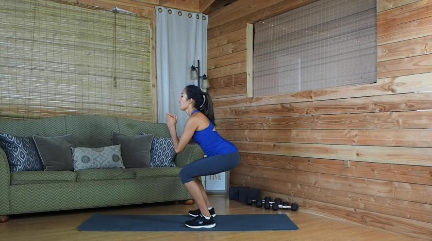vet verbrandende cardio oefening flutter kick squat