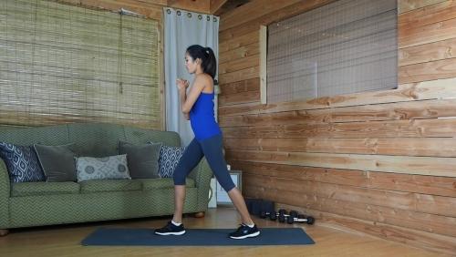 Vet Verbrandende Cardio Oefening Flutter Kick Squat 4