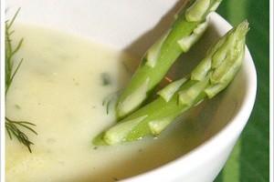 groene asperge créme soep